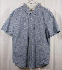 Adriano Goldschmied The Pearson Short Sleeve Imprinted Leaves Shirt Size XL