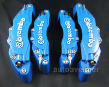 4x 3D Car Auto Blue New Style Front + Rear Brake Caliper Covers Universal