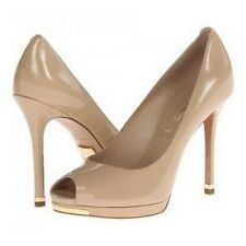 NEW $395 Michael Kors Collection Brenda Nude Patent Leather Pumps sz 8 US /38.5
