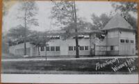 Winona Lake, IN 1906 Private Mailing Card/Postcard: Auditorium - Indiana Ind