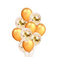 10pcs Golden Paper Confetti Dots Ballons Party Wedding Anniversary Decoration