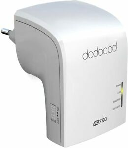 Dodocool WLAN Repeater AC750 Dual Band Wireless AP/Ripetitore WiFi Router 2.4GHz