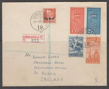 Denmark 1963. Registered cover to Ireland. Typographed stamps accepted.