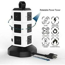 Power Strip Tower 2500W 10A Surge Protector Electric Charging Station  4USB Port