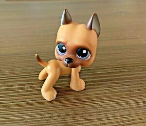 Littlest Pet shop Great Dane puppy Dog purple Eyes LPS single