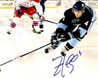 Signed 8x10 ZBYNEK MICHAELEK Pittsburgh Penguins Photo - COA