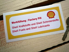 PORSCHE 911 FACTORY FILL Shell oil fill Red, White & Yellow style sticker