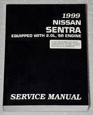 1999 Nissan Sentra 2.0L Original Factory Shop Service Repair Manual Se Sel Sedan