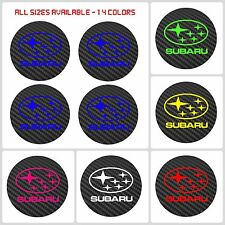 4x SUBARU Badge Logo Carbon Center Caps Alloy Wheel Hub Stickers - All Sizes