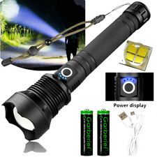 Super Bright 990000Lumens Zoomable Flashlight XHP70 LED USB Rechargeable Torch