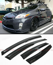 JDM MUGEN 3D STYLE SMOKED WINDOW VISOR VENT SHADE FOR 2010-15 TOYOTA PRIUS ZVW30