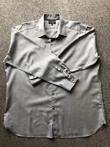 """Mens Marks And Spencer Autograph Pure Cotton Grey Shirt 18"""" Collar"""