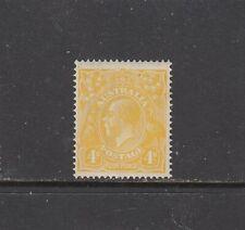 KING GEORGE V, SINGLE WATERMARK: 4d Lemon-yellow SG 22b MVLH.