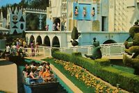 Vintage Postcard Disneyland It's A Small World Imaginative Clock Fantasyland