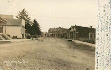 Wisconsin, WI, Bloomington, Main Street Scene circa 1908 Real Photo Postcard