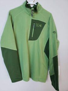 Mountain Hardwear Fleece Jacket Sweatshirt 1/2 Zip Stretch Panels Mens Large