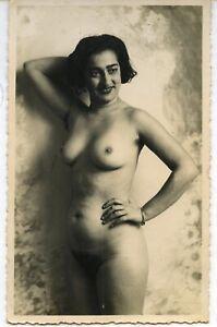 Akt junge hübsche Frau nackt Italienerin super Vintage um 1955