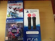 (Ps4) (Wipeout VR   ) (vr PlayStation worlds)Move ) 2 boxed (newgames ) (ps4)