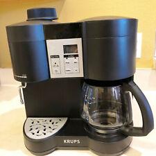 Krups XP1600 Coffee Maker Espresso Machine Combo Black