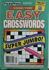 Penny Press Good Time Easy Crosswords August 2017 Jumbo Puzzles FREE SHIPPING sb