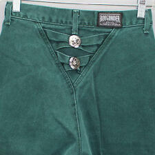 RoughRider by Circle T Green Jeans size 5 6 Conchos in Back Made in USA