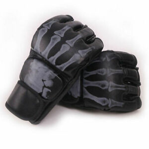 MMA Boxing Gloves Grappling Punching Bag Training Kickboxing Fight Sparring