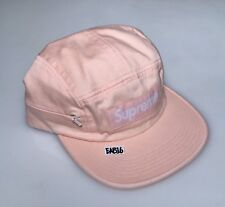 Supreme Side Zip Camp Hat Light Peach Cap Box Logo Bogo FW17 One Size Pink