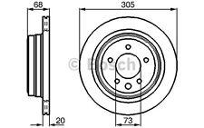 BOSCH Juego de 2 discos freno 305mm ventilado JAGUAR XK XJ DAIMLER 0 986 478 660
