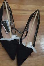 b9e44cb315f3 zara pointed toe kitten heels pumps suede US SIZE 8