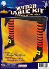 "Witch Leg Table Cover Kit Halloween Decoration Party 54"" x 72"""