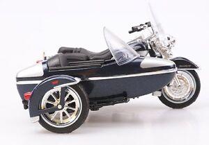 Brand new Maisto 1:18 Harley Davidson 2001 FLHRC ROAD KING SIDECAR motorcycle