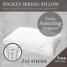 Deluxe Mini Pocket Spring Pillow Really Good Support Luxury Breathable Cotton