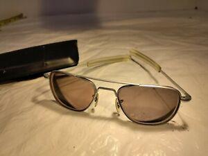 Vintage 5 1/2 Randolph Engineering Aviator Sunglasses - Frames Matt Chrome Fship