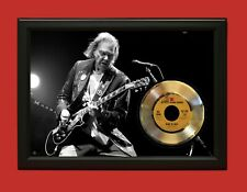 Neil Young 2 Poster Art Wood Framed 45 Gold Record Display C3