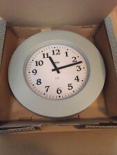 Alessi Momento 11 G Wall Clock design Aldo Rossi Aluminum Baked Colour Grey