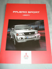 Mitsubishi Pajero Sport Liberty brochure Jan 2004 German text
