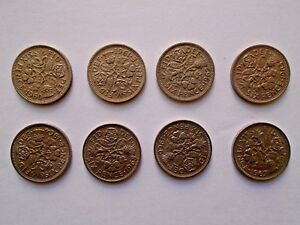 LUCKY Sixpence 1960 - 1967 Choose Date (supplied in coin wallet) Collector's