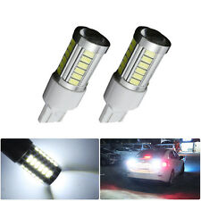 2PC T20 6000K White 7443 5630 33SMD LED Dome Map Car Backup Reverse Lights Bulb