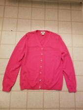 Brooks Brothers 346 Womens Sz L Pink Long Sleeve Button Down Sweater