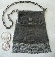 Antique Art Deco Silver PRINCESS MARY Fringe French Doll Mesh Coin Purse W&D #15