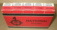 5 NOS National  5725  6AS6W  Tubes