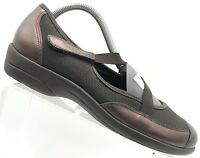 Munro USA Bronze Leather Casual Walking Comfort Mary Jane Shoes Women's 8.5 M