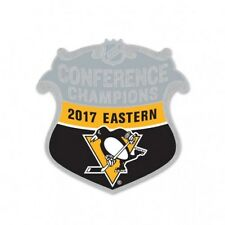2017 Stanley Cup Eastern Conference Champion Pittsburgh Penguins ShieldLapel Pin