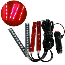 New Red 4x12LED Car Interior Light Atmosphere Decorative Light Neon Lamp Strips