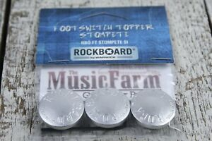 RockBoard by Warwick RBO FT STOMPETE 3 Piece StomPete Footswitch Topper Silver