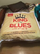 "Guitar Center ""King of the Blues"" advertising banner 38""x38"""