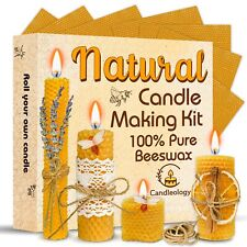 Candle Making Kit Beeswax - 22 Pcs ALL-INCLUSIVE DIY Candle Making Kit for Adult