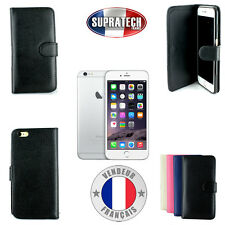 Etui Rabattable Noir Avec Support pour Apple iPhone 6S Plus 6 Plus