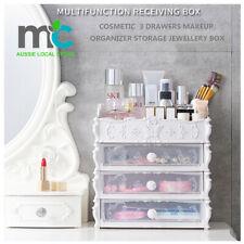 European Style Cosmetic  3 Drawers Makeup Organizer Storage Jewellery Box