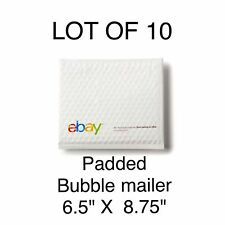 """LOT 10 eBay Branded Padded Envelopes Airjacket  6.5"""" x 8.75"""" POLY BUBBLE MAILER"""